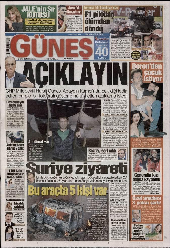 Gazete Manşetleri - 3 Eylül Pazartesi 19
