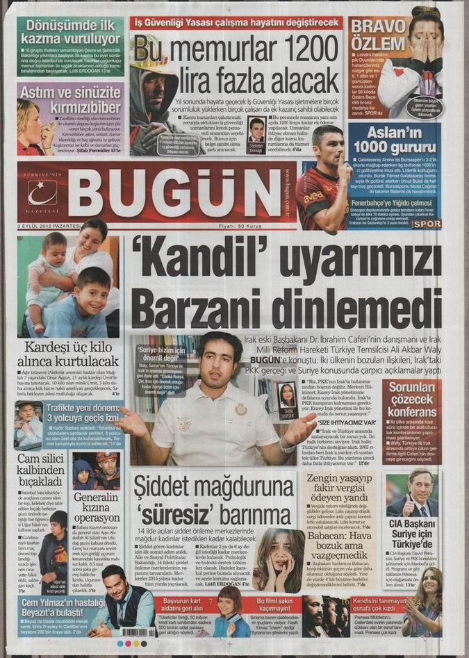 Gazete Manşetleri - 3 Eylül Pazartesi 22