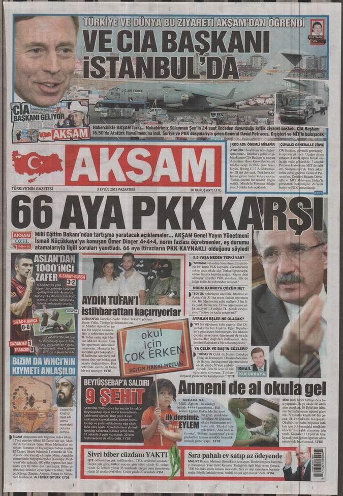 Gazete Manşetleri - 3 Eylül Pazartesi 24