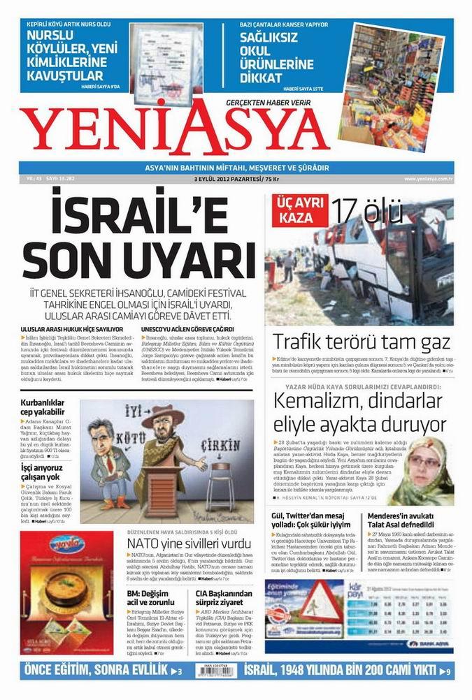 Gazete Manşetleri - 3 Eylül Pazartesi 3