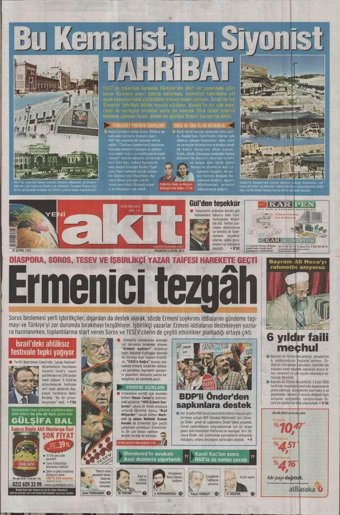 Gazete Manşetleri - 3 Eylül Pazartesi 4