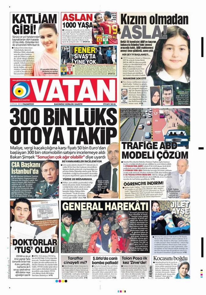 Gazete Manşetleri - 3 Eylül Pazartesi 5