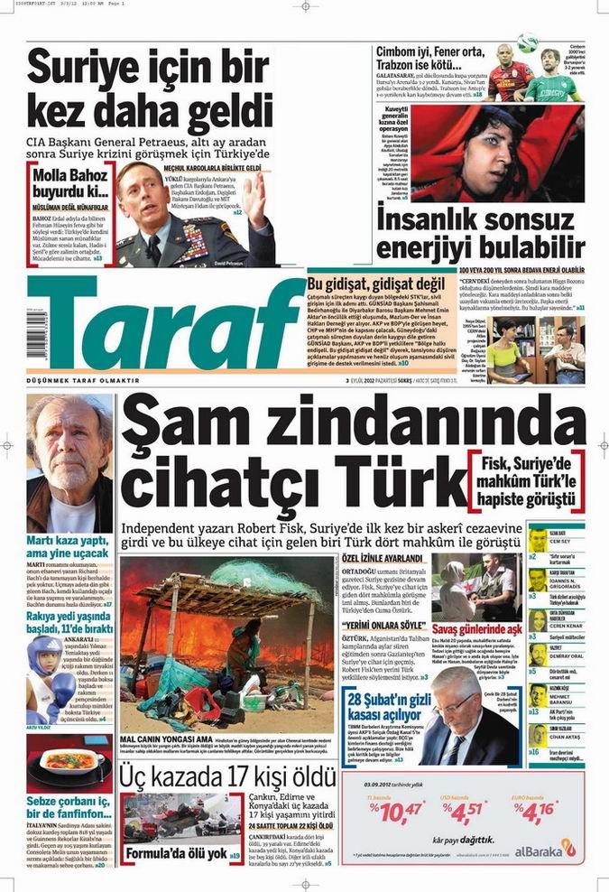 Gazete Manşetleri - 3 Eylül Pazartesi 7