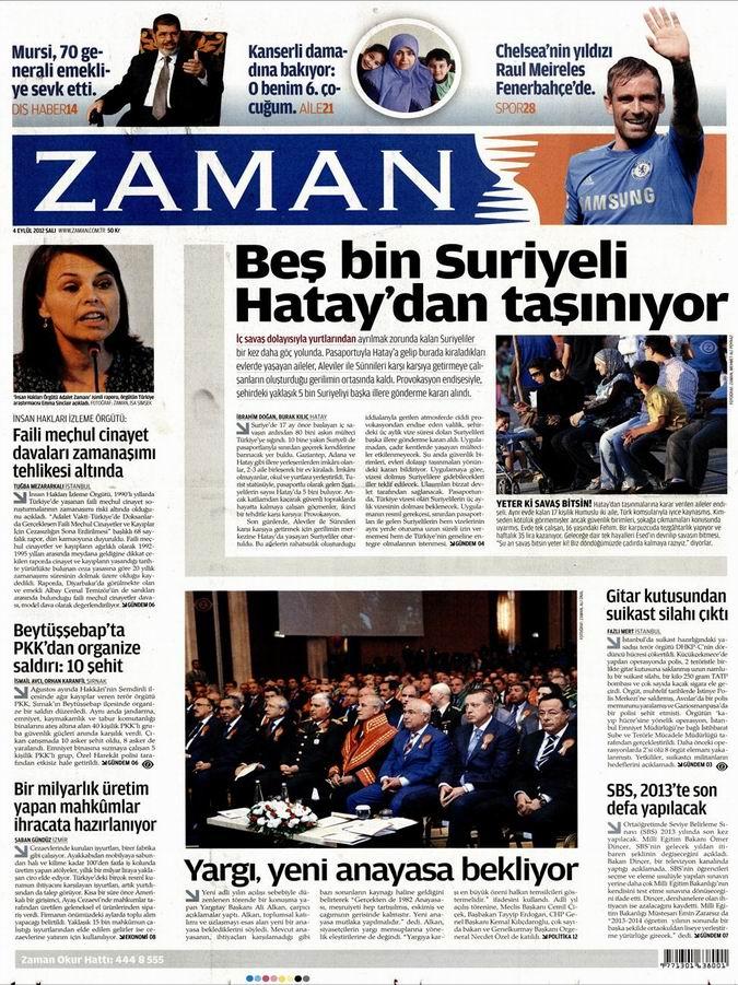 Gazete Manşetleri - 4 Eylül Salı 1