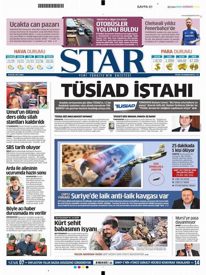 Gazete Manşetleri - 4 Eylül Salı 10