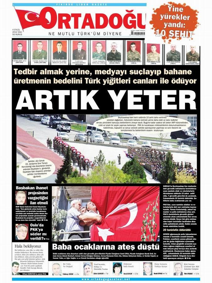 Gazete Manşetleri - 4 Eylül Salı 15