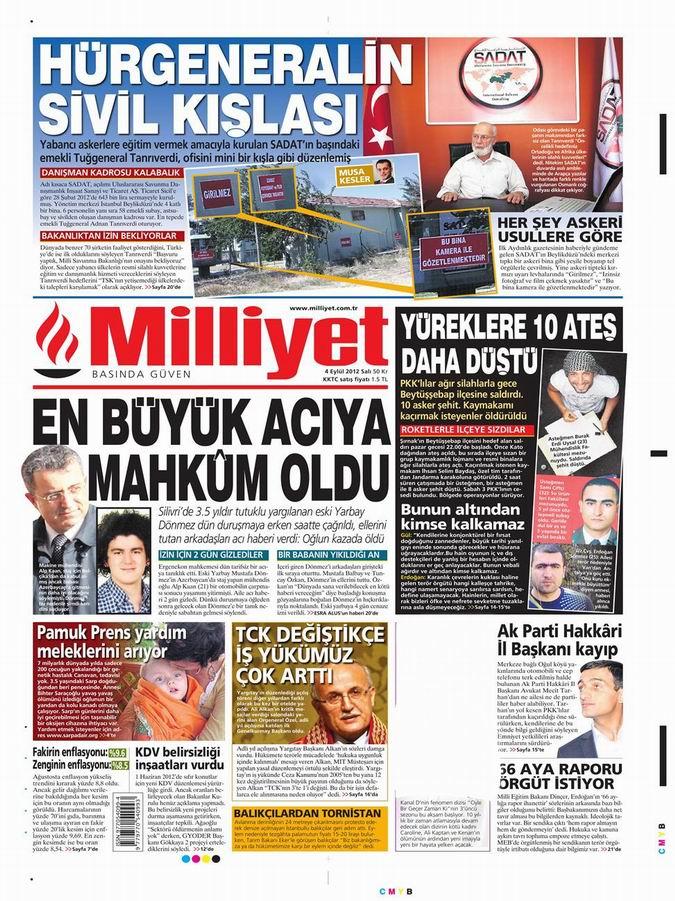 Gazete Manşetleri - 4 Eylül Salı 16