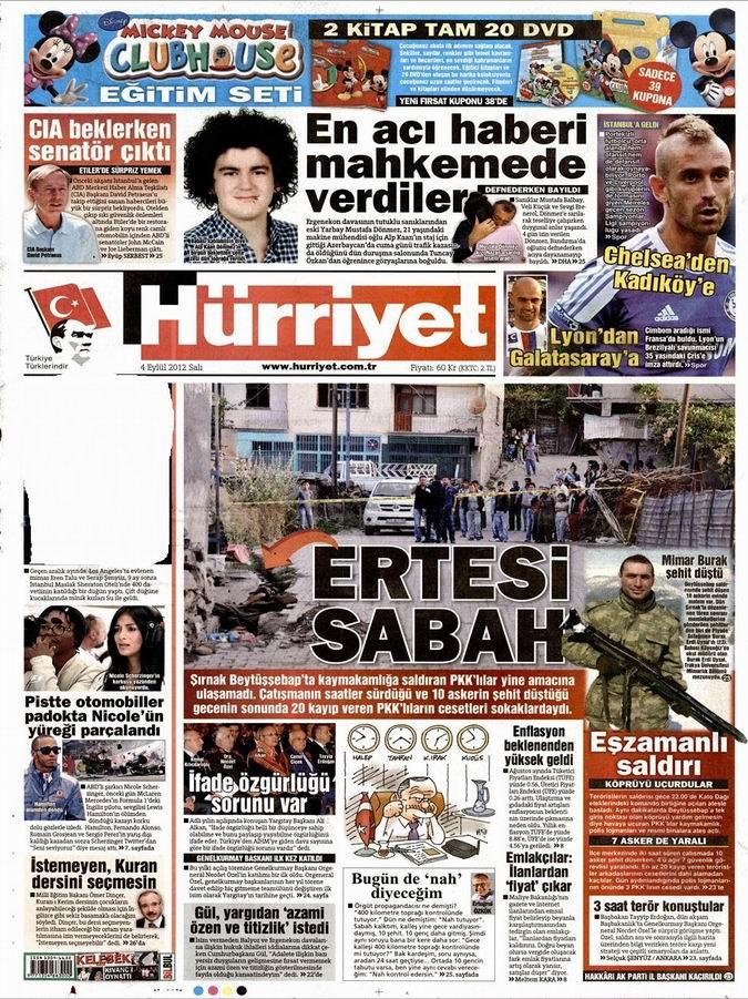 Gazete Manşetleri - 4 Eylül Salı 18