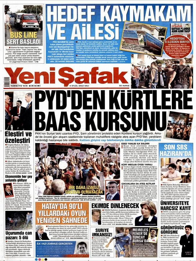 Gazete Manşetleri - 4 Eylül Salı 2
