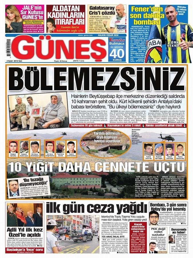 Gazete Manşetleri - 4 Eylül Salı 20