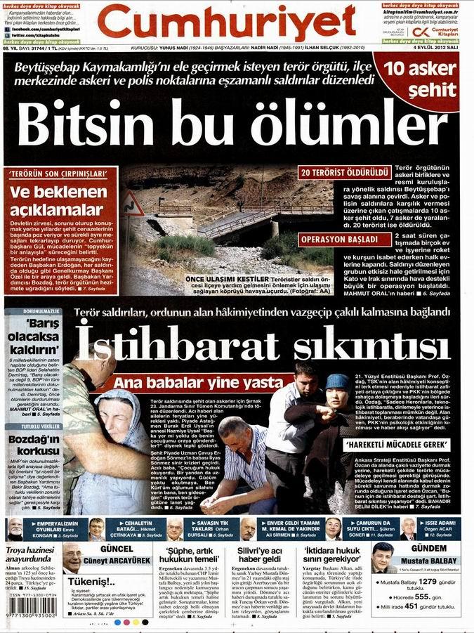 Gazete Manşetleri - 4 Eylül Salı 23