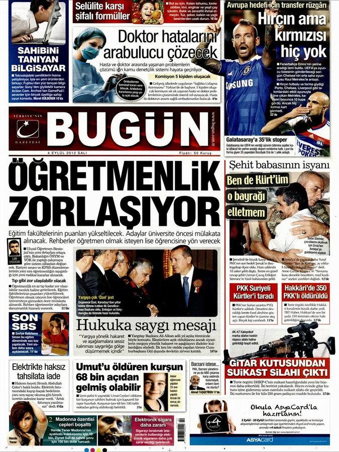 Gazete Manşetleri - 4 Eylül Salı 24