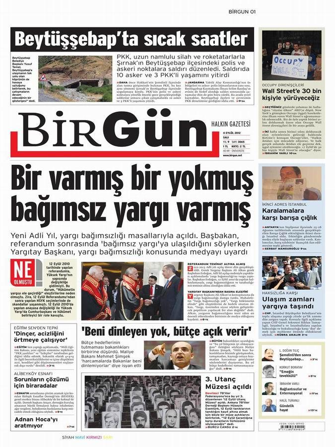 Gazete Manşetleri - 4 Eylül Salı 25