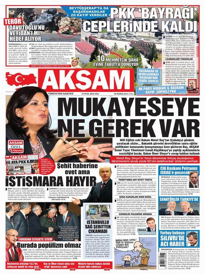 Gazete Manşetleri - 4 Eylül Salı 26