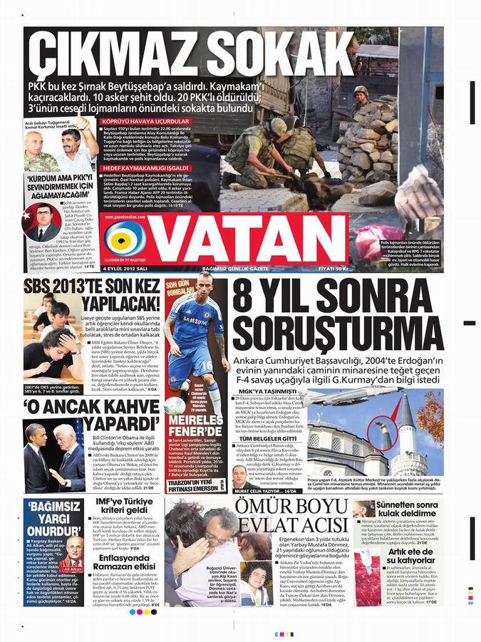 Gazete Manşetleri - 4 Eylül Salı 5