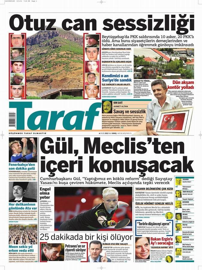 Gazete Manşetleri - 4 Eylül Salı 8