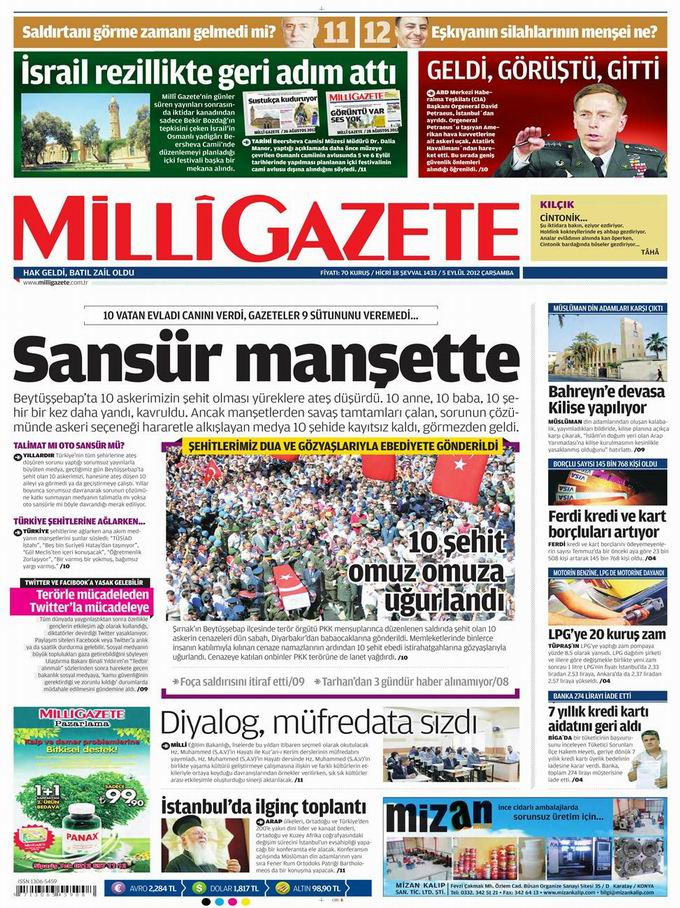 Gazete Manşetleri - 5 Eylül Çarşamba 16