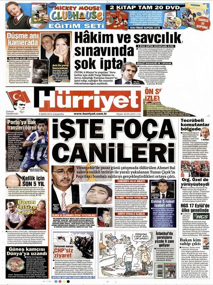 Gazete Manşetleri - 5 Eylül Çarşamba 17