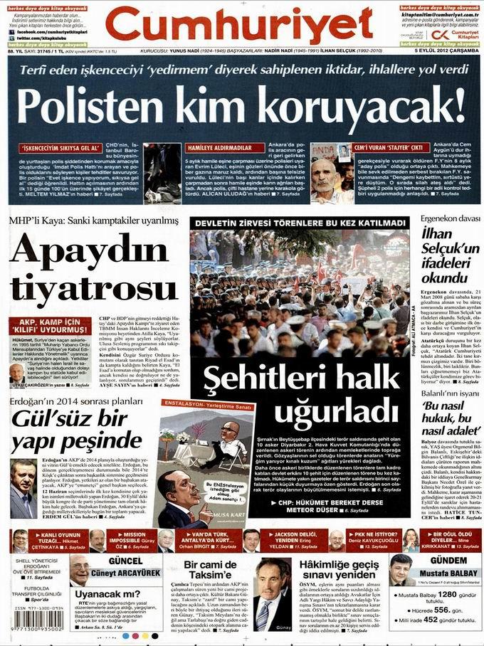 Gazete Manşetleri - 5 Eylül Çarşamba 21