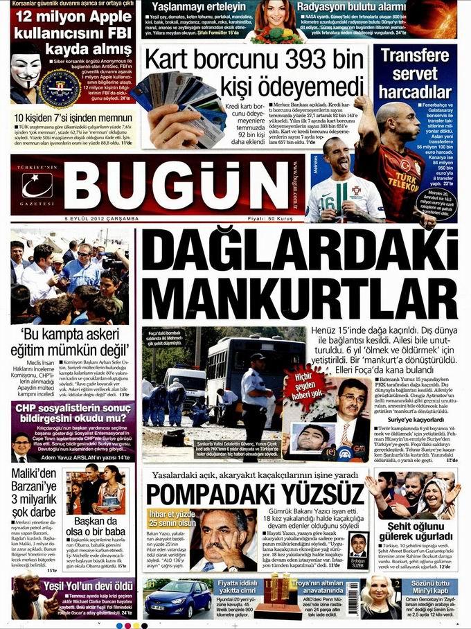 Gazete Manşetleri - 5 Eylül Çarşamba 22