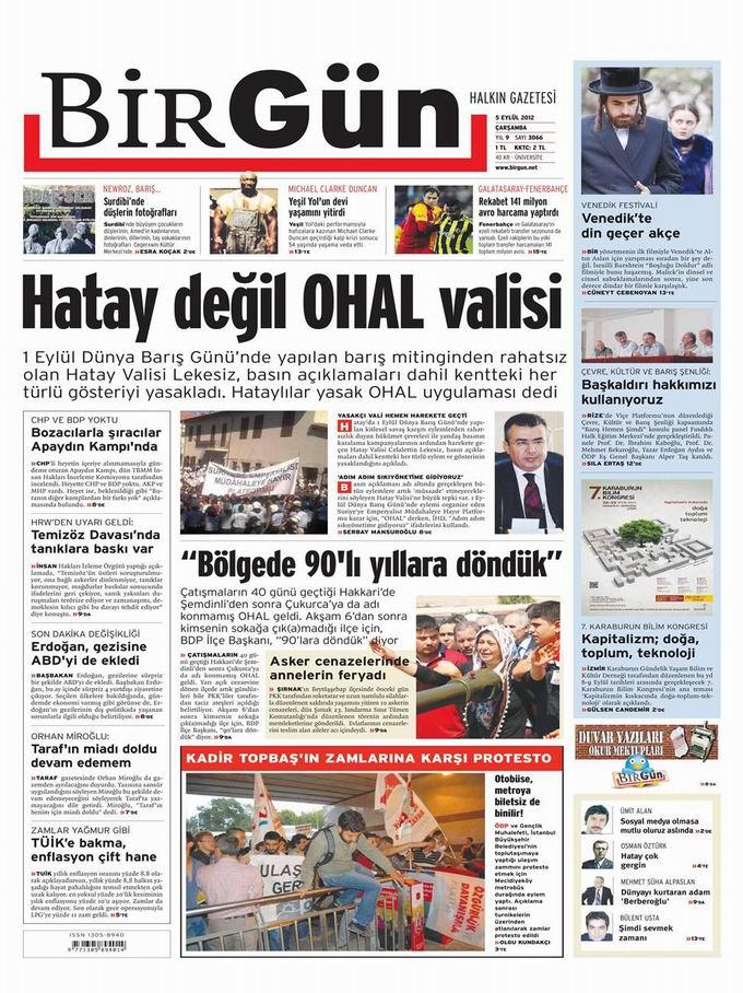 Gazete Manşetleri - 5 Eylül Çarşamba 23