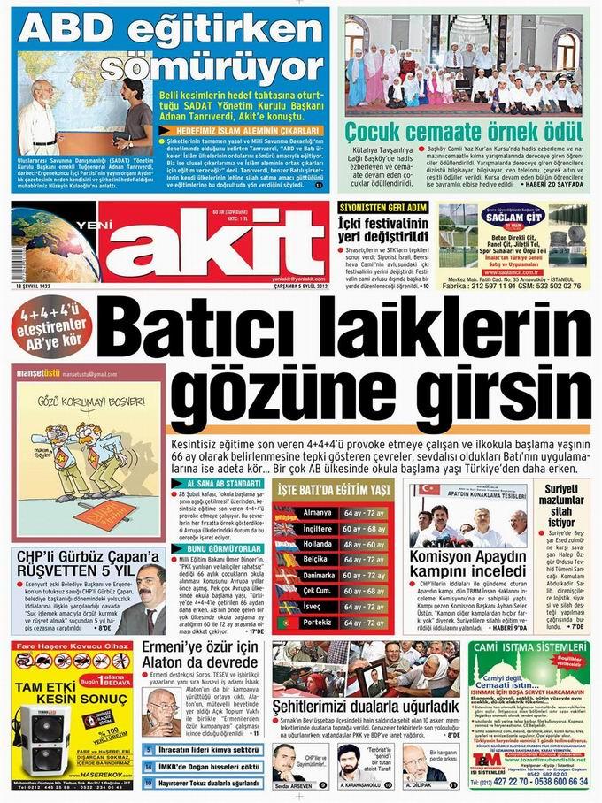 Gazete Manşetleri - 5 Eylül Çarşamba 4