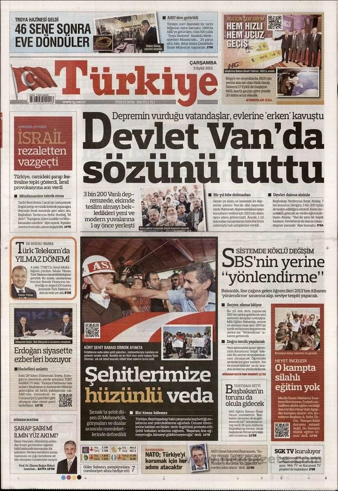 Gazete Manşetleri - 5 Eylül Çarşamba 7