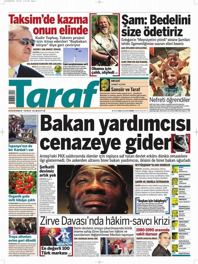 Gazete Manşetleri - 5 Eylül Çarşamba 8