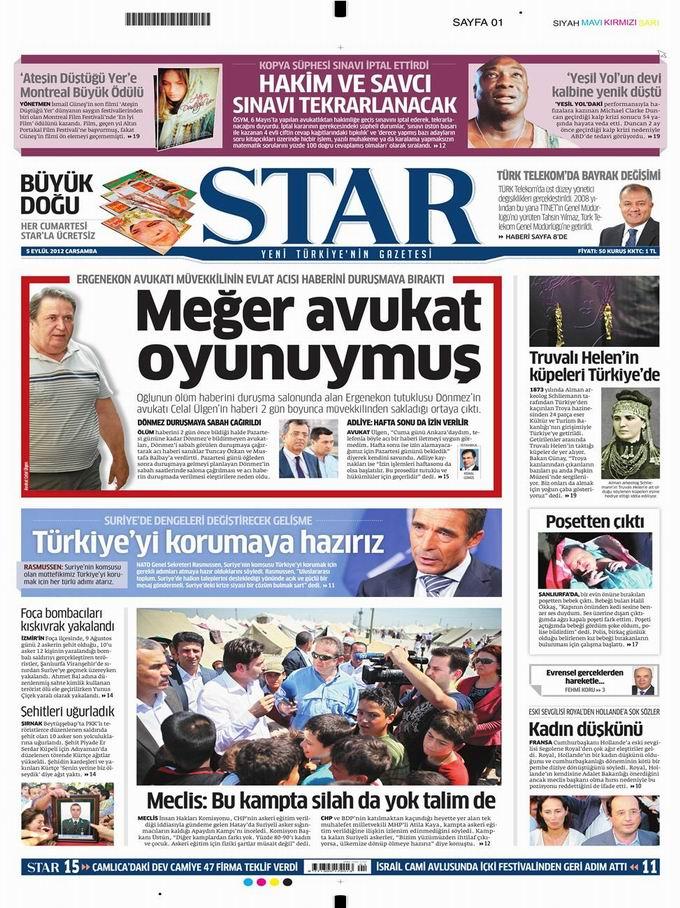 Gazete Manşetleri - 5 Eylül Çarşamba 9