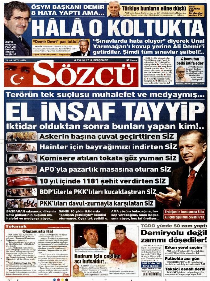 Gazete Manşetleri - 6 Eylül Perşembe 10