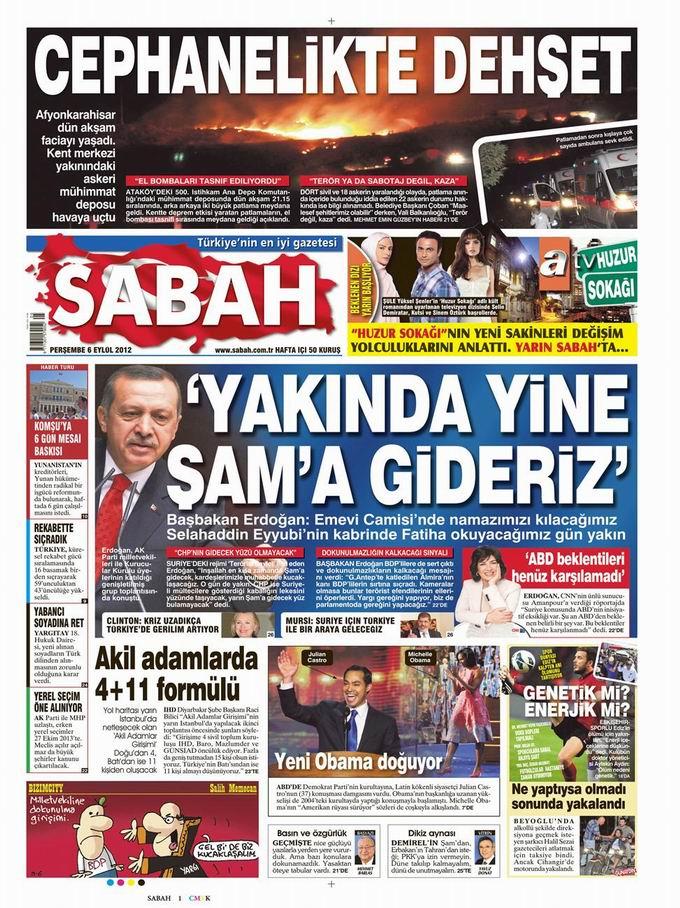 Gazete Manşetleri - 6 Eylül Perşembe 11