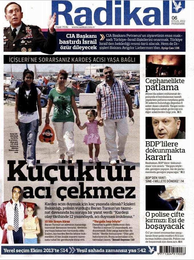 Gazete Manşetleri - 6 Eylül Perşembe 12