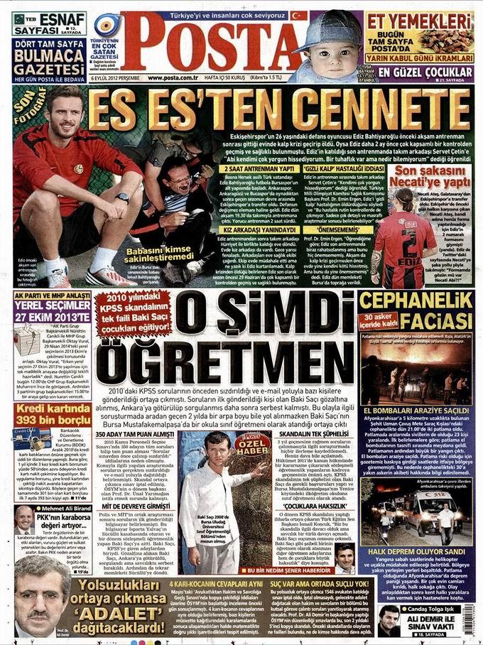 Gazete Manşetleri - 6 Eylül Perşembe 13