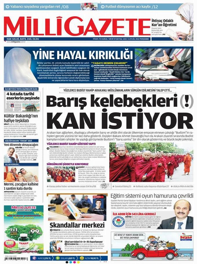 Gazete Manşetleri - 6 Eylül Perşembe 16
