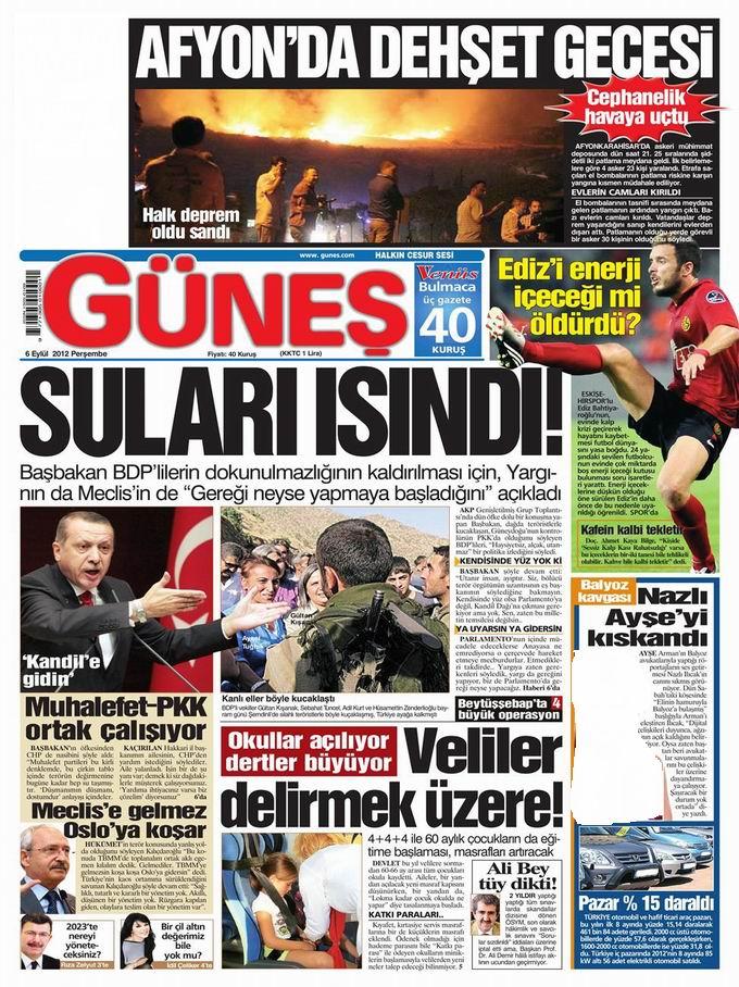 Gazete Manşetleri - 6 Eylül Perşembe 20
