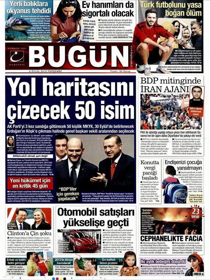 Gazete Manşetleri - 6 Eylül Perşembe 23