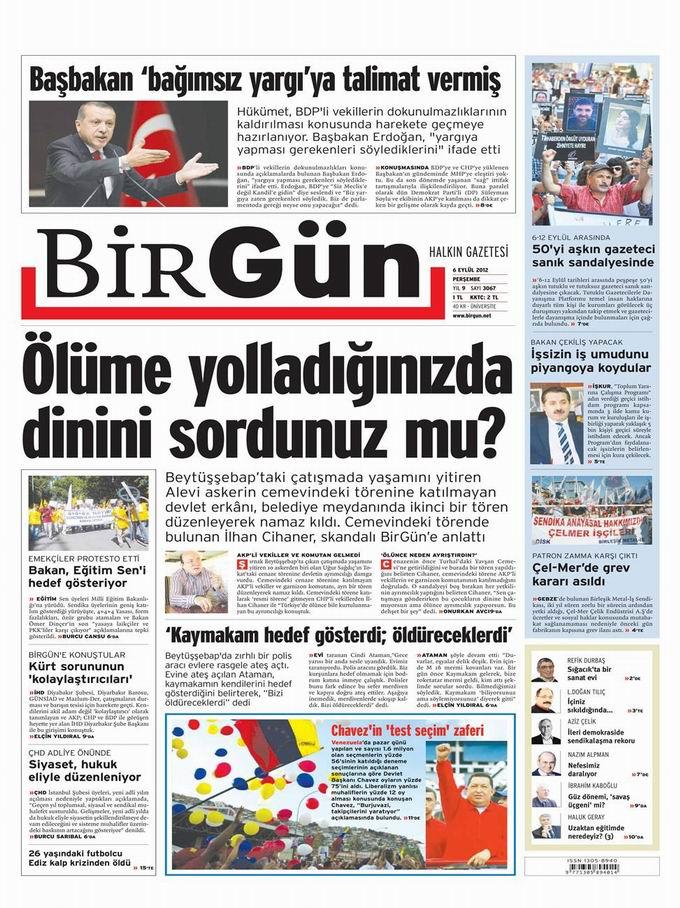 Gazete Manşetleri - 6 Eylül Perşembe 24