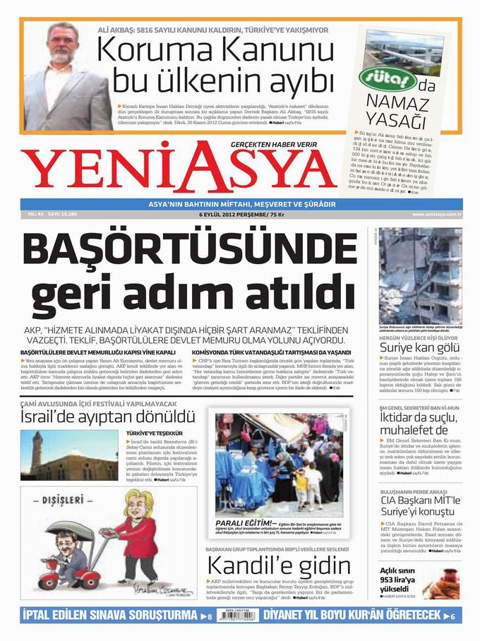 Gazete Manşetleri - 6 Eylül Perşembe 3
