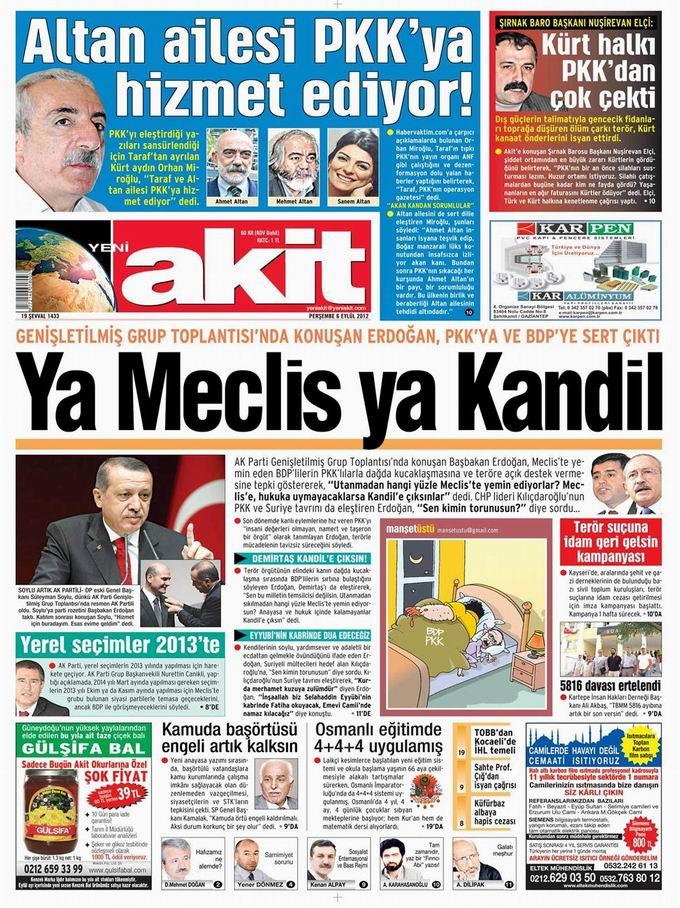 Gazete Manşetleri - 6 Eylül Perşembe 4