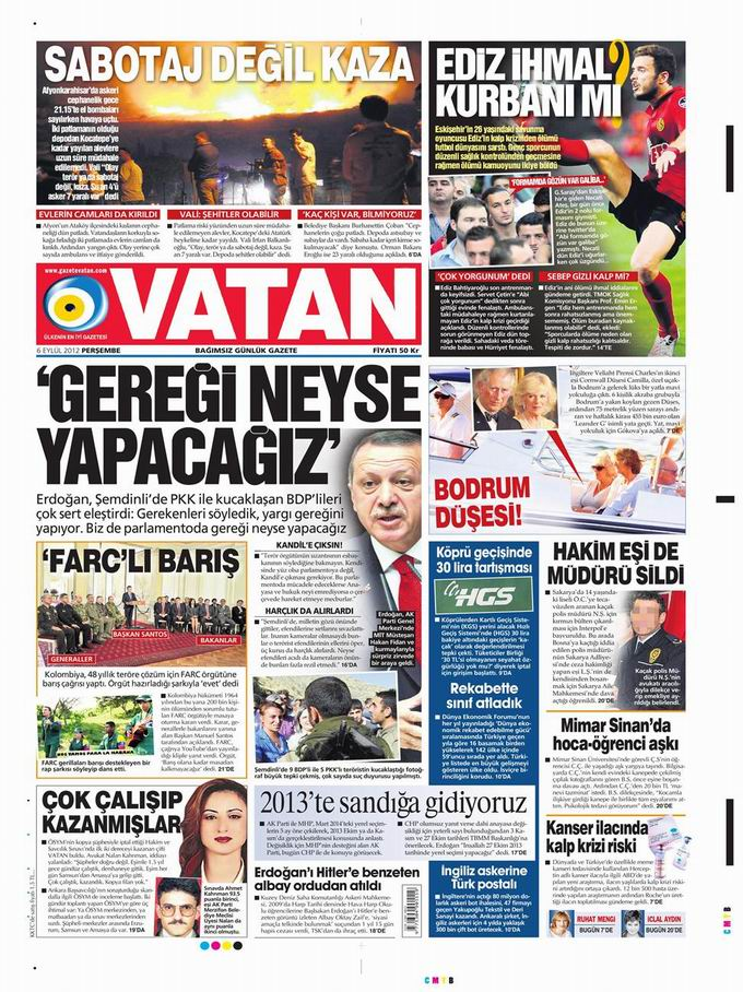Gazete Manşetleri - 6 Eylül Perşembe 5