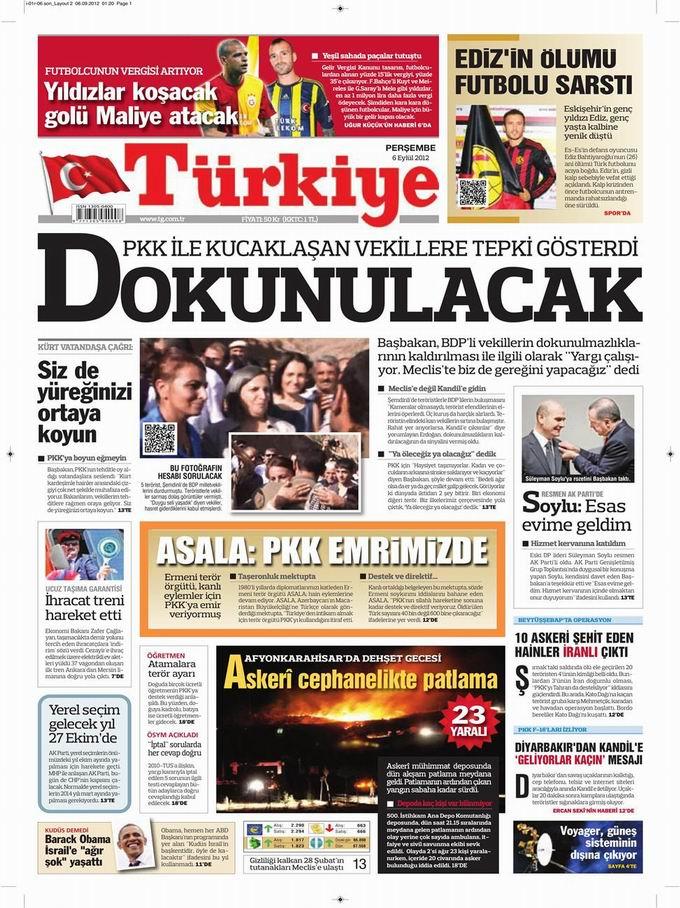 Gazete Manşetleri - 6 Eylül Perşembe 6