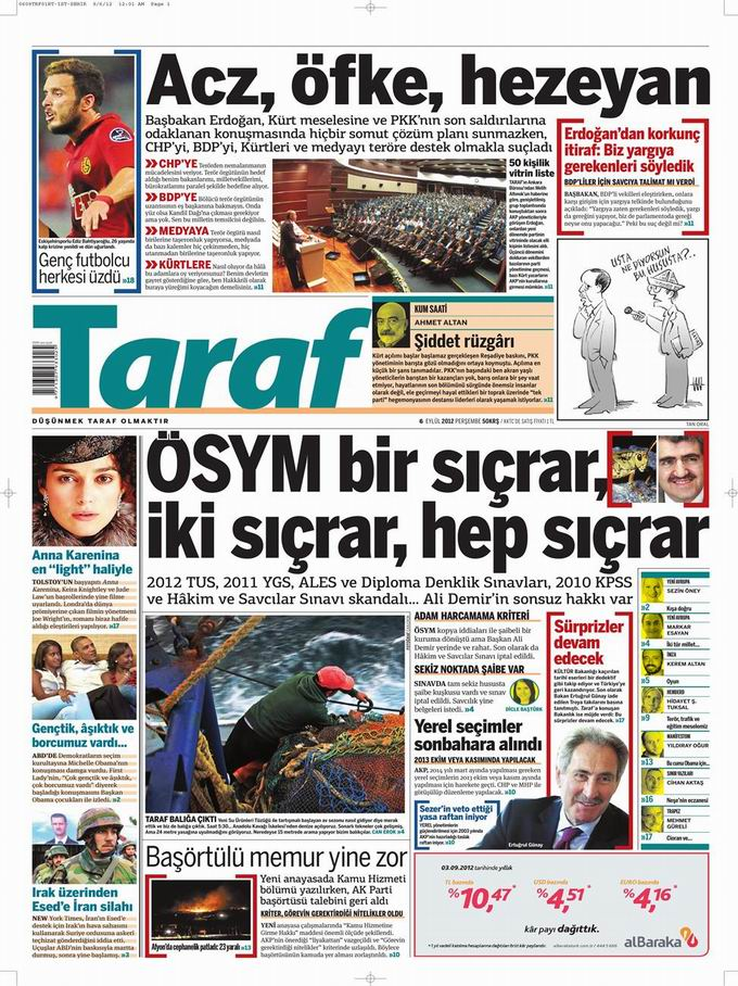 Gazete Manşetleri - 6 Eylül Perşembe 8
