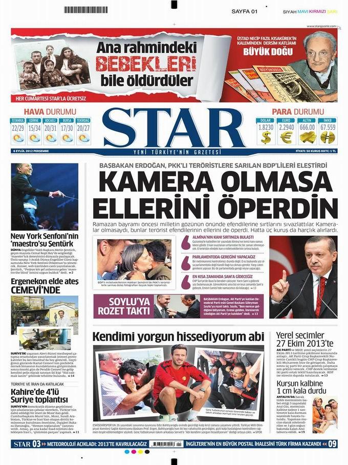 Gazete Manşetleri - 6 Eylül Perşembe 9