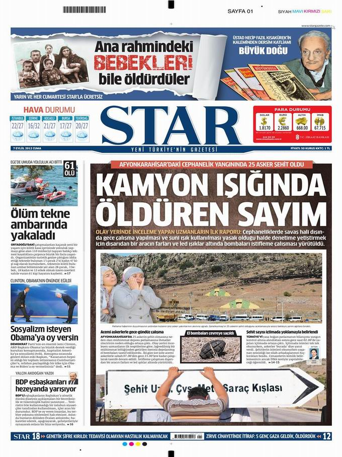 Gazete Manşetleri - 7 Eylül Cuma 10