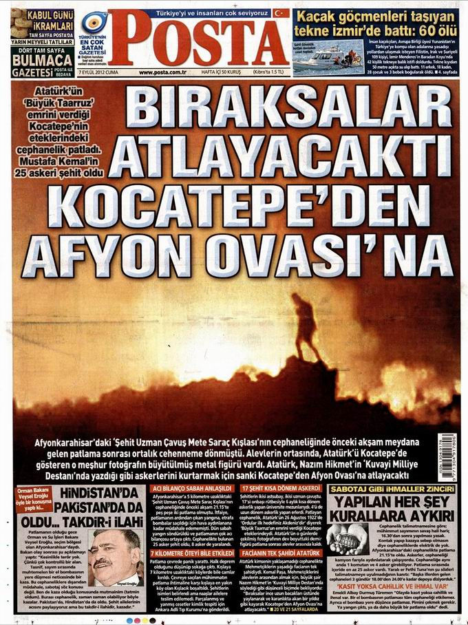 Gazete Manşetleri - 7 Eylül Cuma 14