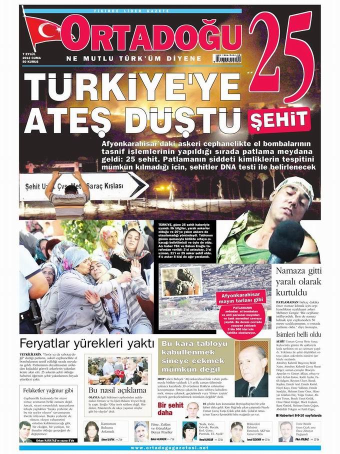 Gazete Manşetleri - 7 Eylül Cuma 15