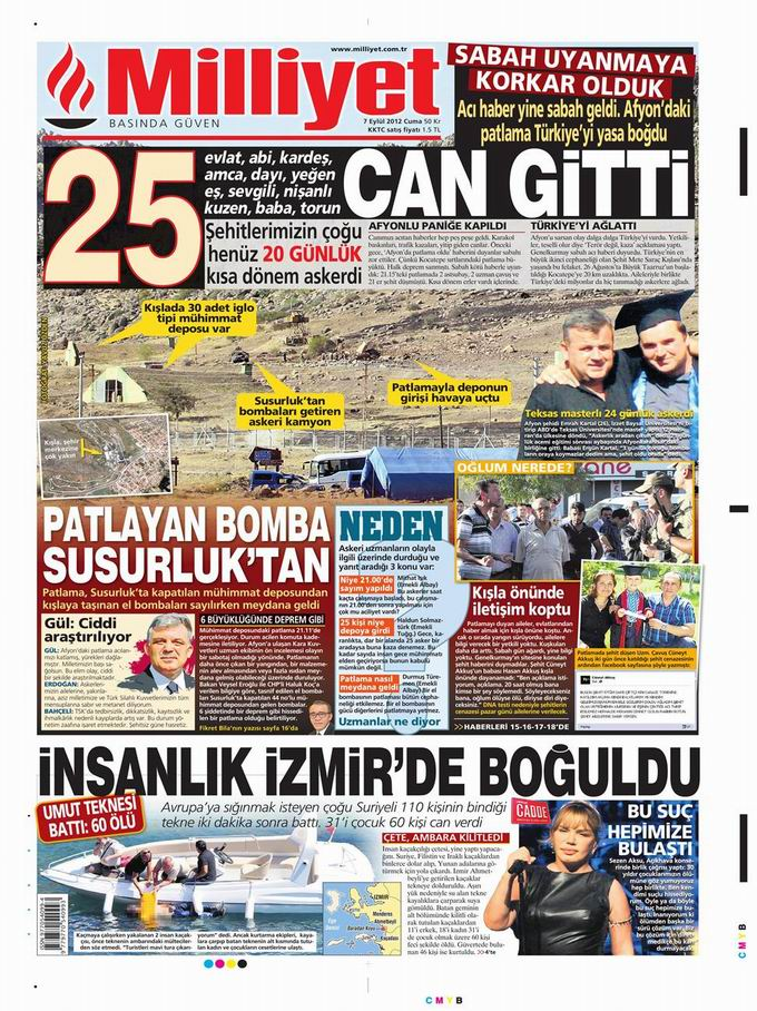 Gazete Manşetleri - 7 Eylül Cuma 16