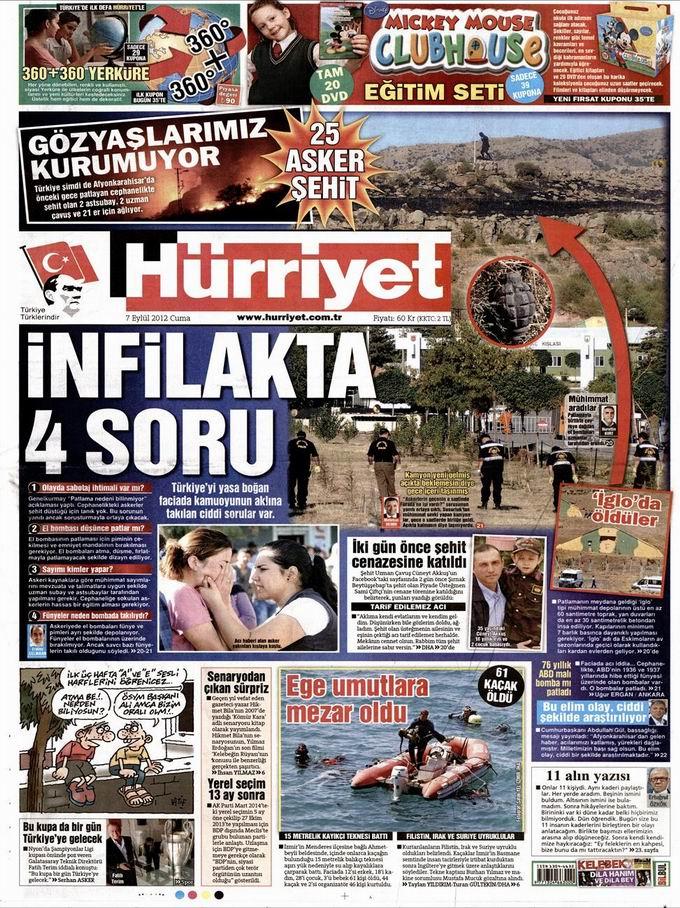 Gazete Manşetleri - 7 Eylül Cuma 19