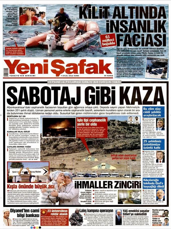 Gazete Manşetleri - 7 Eylül Cuma 2