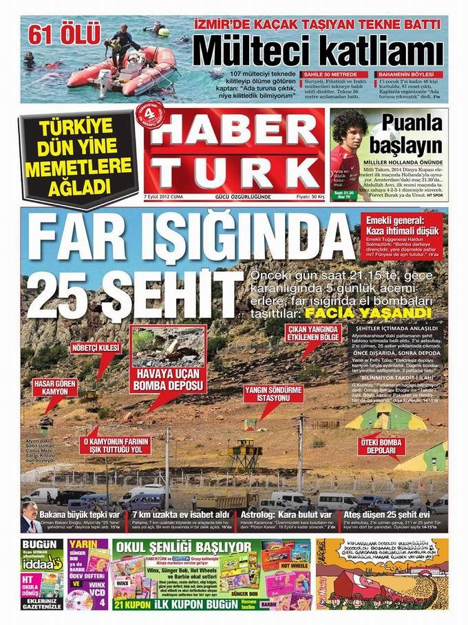 Gazete Manşetleri - 7 Eylül Cuma 20